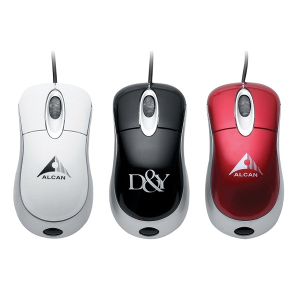 Full Size Optical Mouse With Semi Gloss Surface And Built In Cord Photo