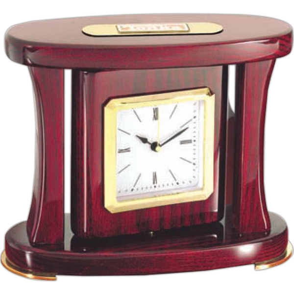 Executive Swivel Desk Clock. Great Award, Lots Of Imprint Area Photo