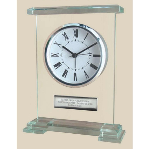 Glass Desk Analog Alarm Clock, Elegant Impressive Look And High Perceived Value Photo
