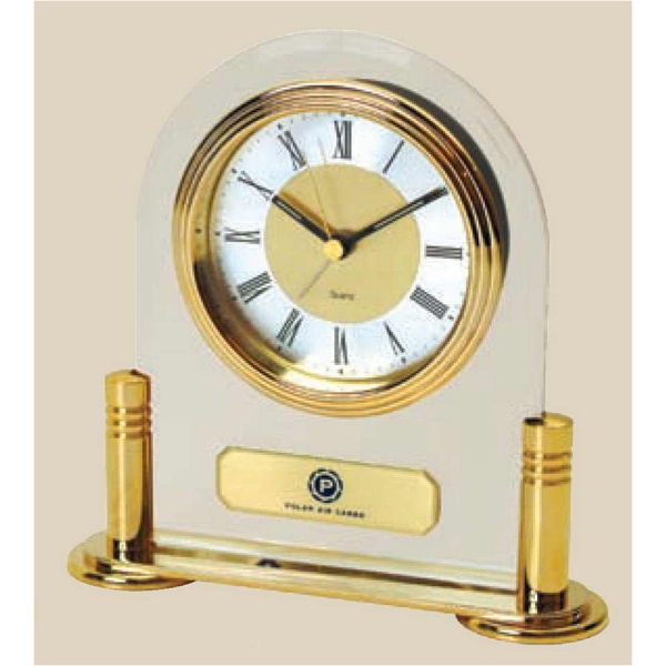 Brass And Acrylic Desk Alarm Clock Photo