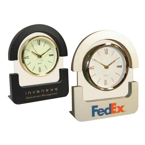 Unique Design Arch Top Desk Top Clock. Simply A Class Of Its Own! Photo