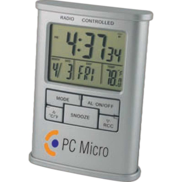 Atomic - Atomic Digital Desk Clock Display Includes Time, Date, Day Of Week And Temperature Photo