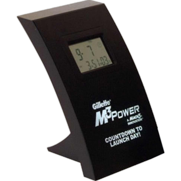 Wall/desk Countdown Lcd Clock. Alarm And Blinking Lcd Display At End Of Countdown Photo