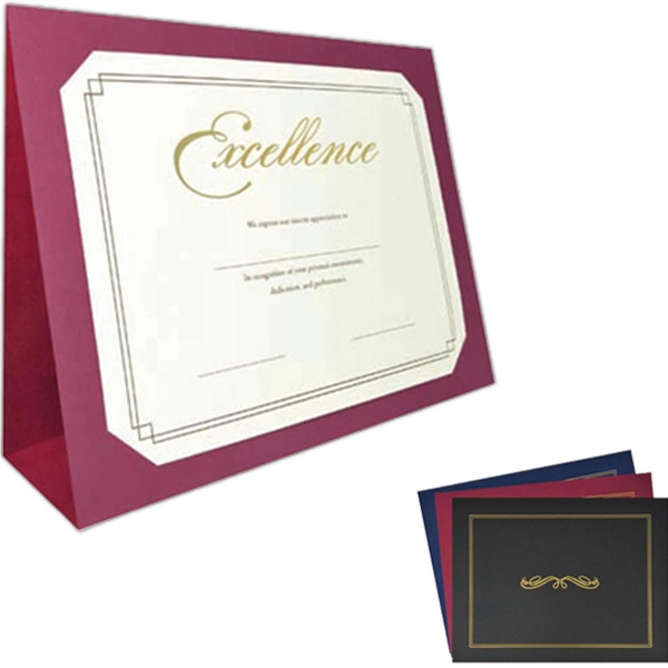 "Heavy-weighted Texture Paper 3-fold Presentation Folder, Holds 11""x8 1/2"" Or 10""x8"" Photo"