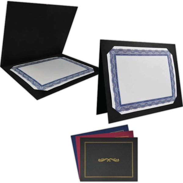 "Heavy-weighted Texture Paper Presentation Jacket, Holds 11""x8 1/2"" Or 10""x8"" Photo"