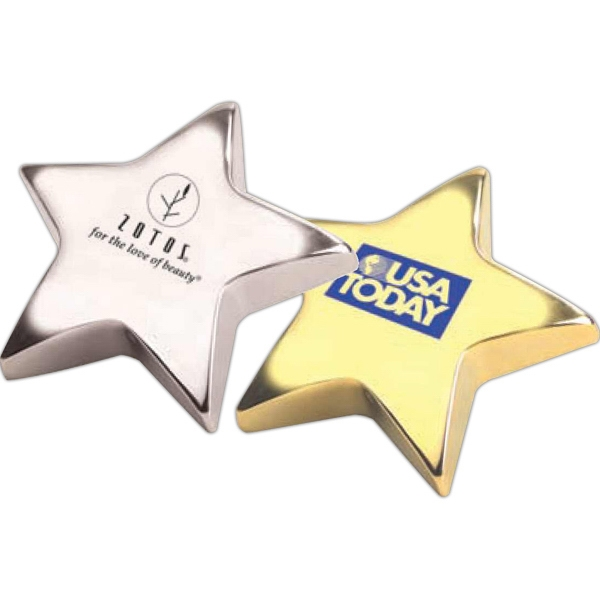 "Gold Star Paperweight Or Mount On Wall Plaque. 4"" Photo"