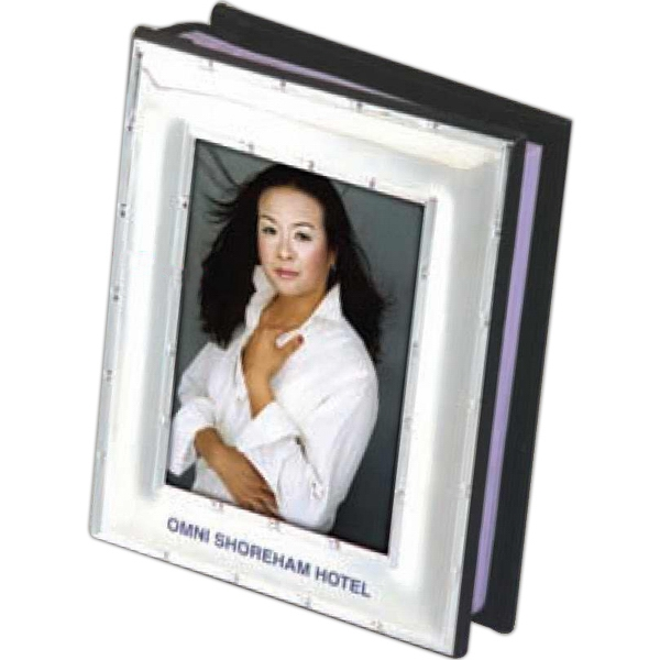 "Photo Album, Velvet Bound With Silver Frame, Holds 100 - 4"" X 6"" Photos Photo"