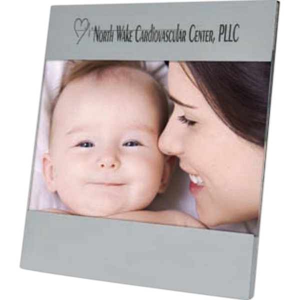 "Aluminum Picture Frame With Nice Black Velvet Backing. 7"" X 5"" Photo"