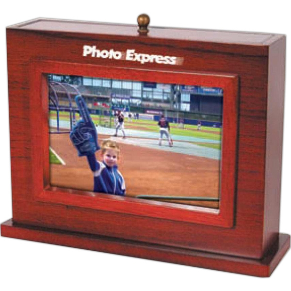 "Handsome Wood Photo Box That Holds Sixty 4"" X 6"" Photos Photo"