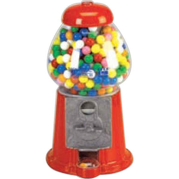 "Carousel (r) - Junior Size Gumball Machine, 11"" Red Cast Aluminum And Glass Globe Photo"