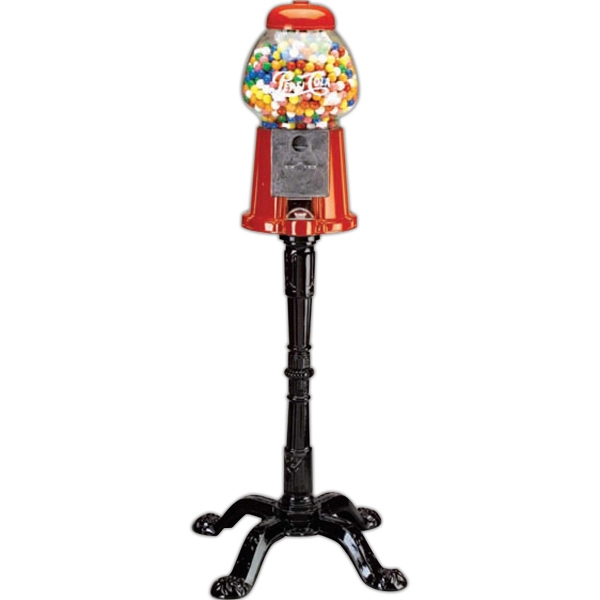 "Carousel (r) - 15"" King Size Aluminum Gumball Machine With Black Antique-style Stand. Holds 62 Oz Photo"