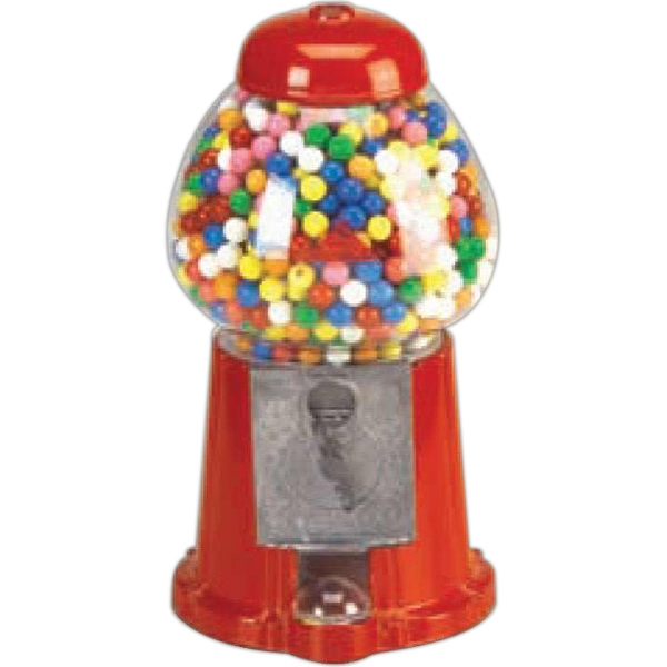 "Carousel - King Size Gumball Machine , 15"" Red Cast Aluminum With Glass Globe, Holds 62 Oz Photo"