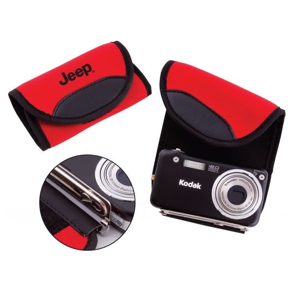 Camera Wrap In Red With Black Accent Color Keeps Camera Protected Photo