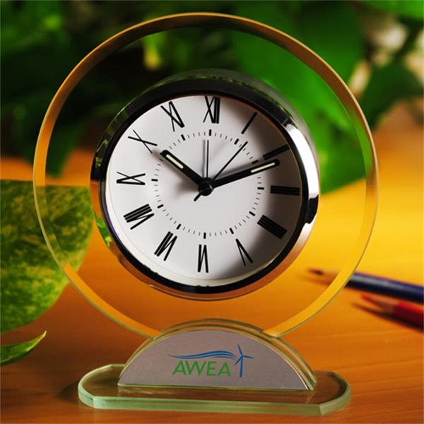 Round Shaped Glass Table Alarm Clock Photo
