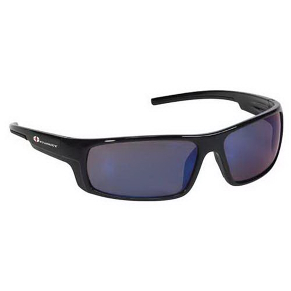 Provizgard - Contemporary Style Safety Glasses With Blue Mirror Lens And Black Frame Photo