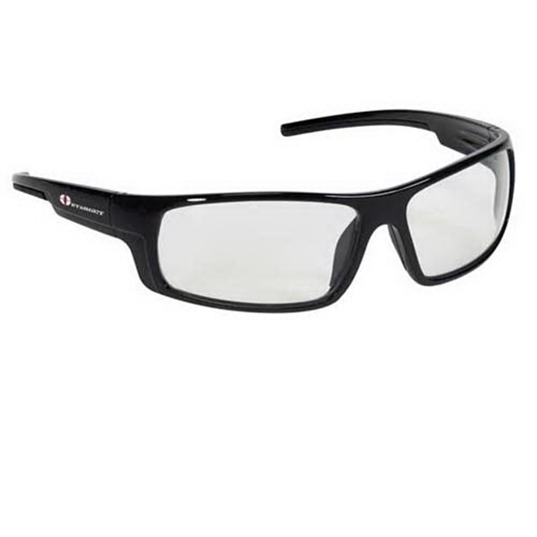 Provizgard - Contemporary Style Safety Glasses With Clear Lens And Black Frame Photo