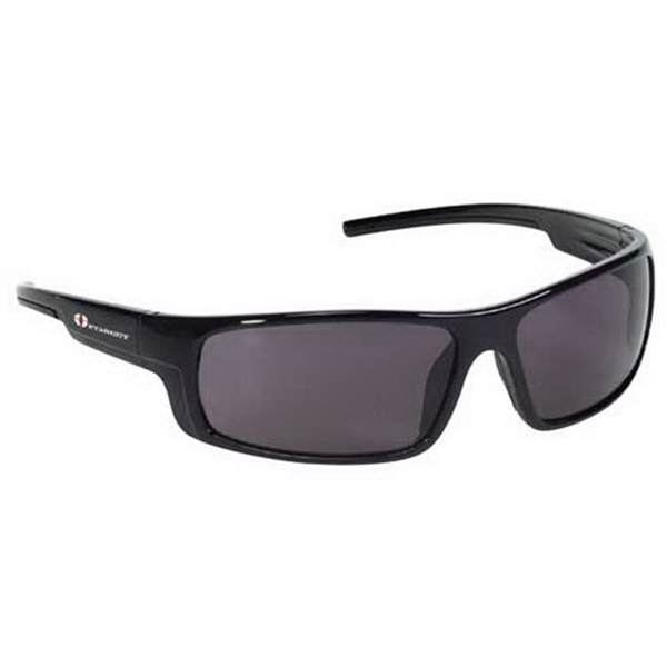 Provizgard - Contemporary Style Safety Glasses With Gray Lens And Black Frame Photo