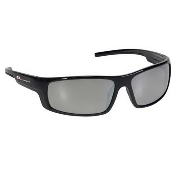Provizgard - Contemporary Style Safety Glasses With Silver Mirror Lens And Black Frame Photo