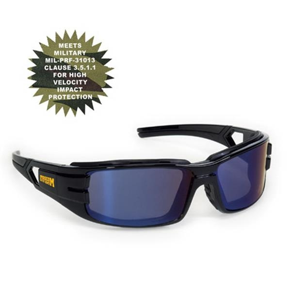 Provizgard - Blue Mirror Lens - Trooper Style Premium Safety Glasses Photo