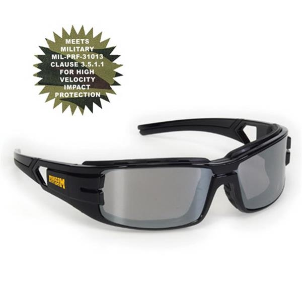 Provizgard - Silver Mirror Lens - Trooper Style Premium Safety Glasses Photo