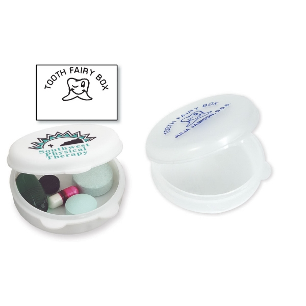 Round-the-clock - Pill Box With Round Design Made Of Polypropylene With A Living Hinge Lid Photo