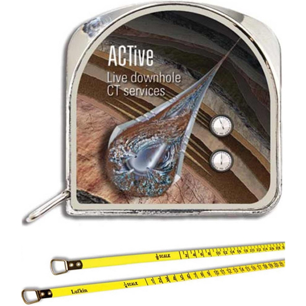 "1/4"" X 5' Architect Tape Measure, Chrome Plated Metal Case Photo"