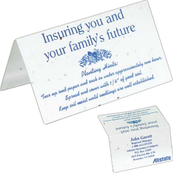 Sprout Tyme - Seeded Paper Business Card Tent Photo