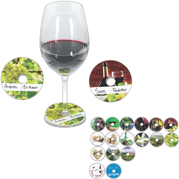 Sprout Tyme - Compostable Wine Glass Tag Photo
