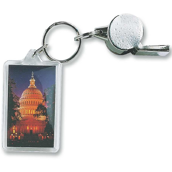Rectangle - Acrylic Key Tag In Shapes Ideal For Auto Dealers, Realtors And Schools Photo