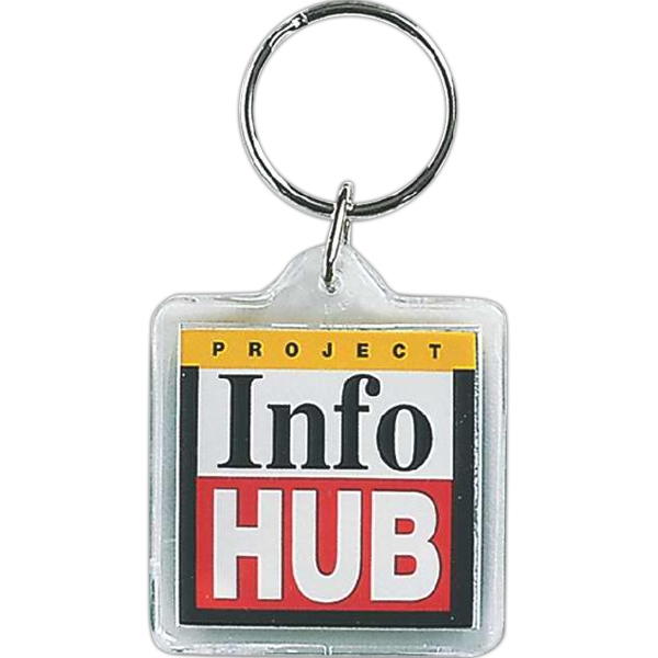 Square - Acrylic Key Tag In Shapes Ideal For Auto Dealers, Realtors And Schools Photo