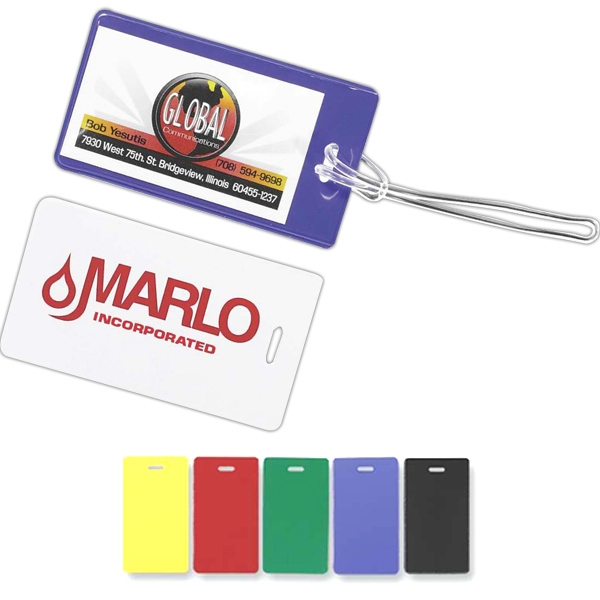 Semi Flexible Luggage Tag With Business Card Holder Photo