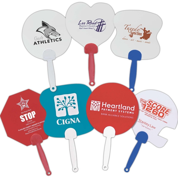 Hand Fan With Plastic Comfort Handle Photo