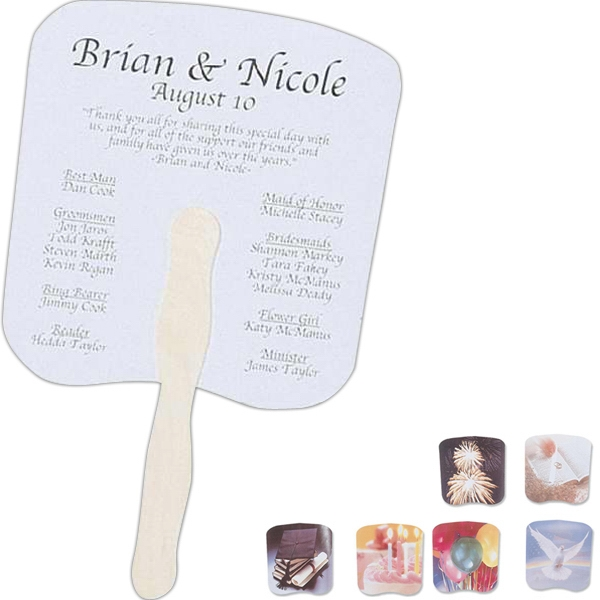 Hand Held Fan With Event Design Photo