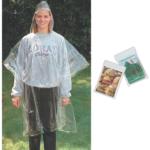 Rain Poncho In Reclosable Ziplock Bag Photo