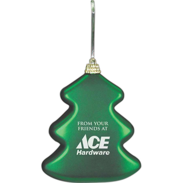 Green Satin Tree Ornament Photo