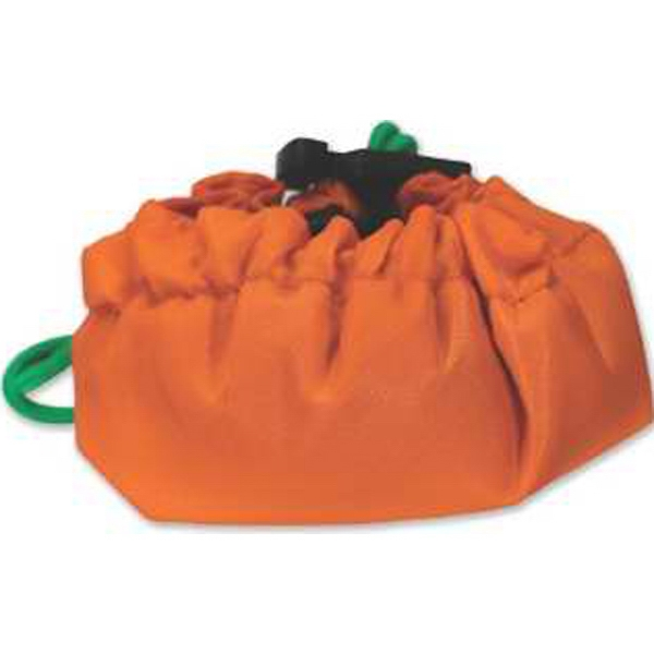 Fun Shaped Tote With Drawstring Closure, Orange Or Pumpkin Shape Photo