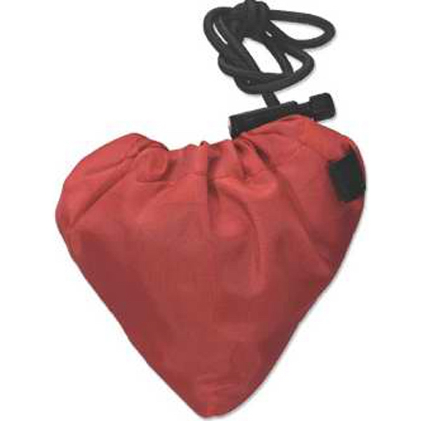 Fun Tote - Fun Shaped Tote With Drawstring Closure, Heart Shape Photo