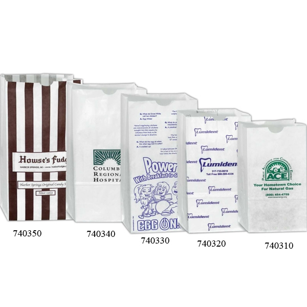 "White Grocery Bag, 6 9/16"" X 4 1/16"" X 13 3/16"" Photo"
