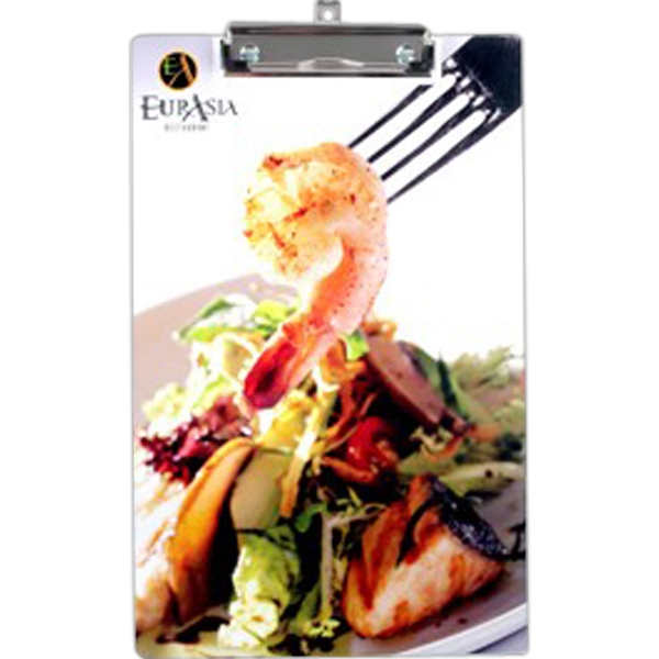 Low Profile White Clipboard With Sturdy Metal Clip And Retractable Hanger Photo
