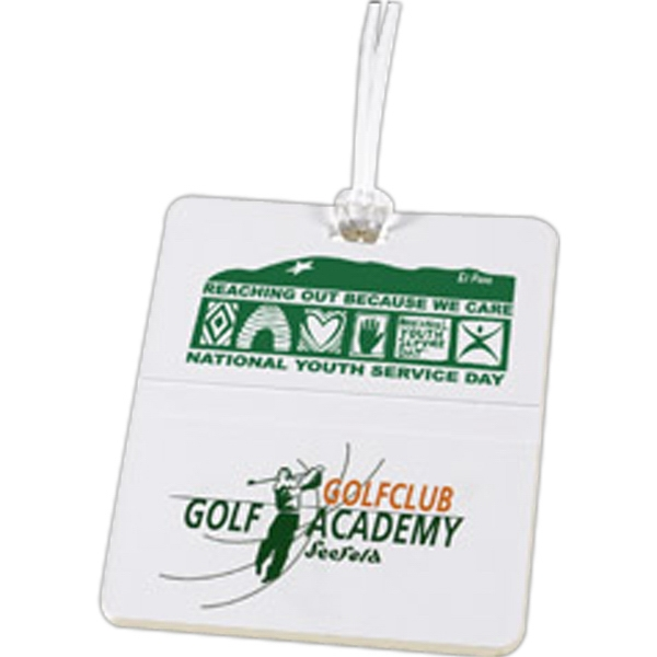"Rectangle - Golf Tag. Molded With 3/8"" Name Slot On The Back Photo"