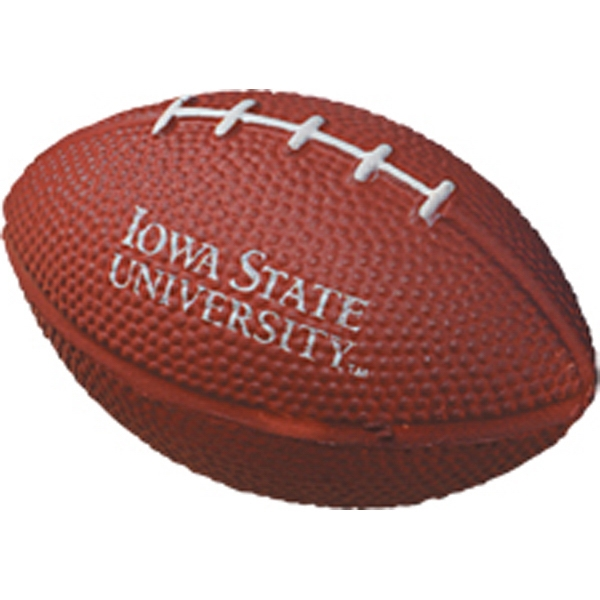 Football Shaped 3-1/2-inch Stress Reliever Ball With White Laces Photo