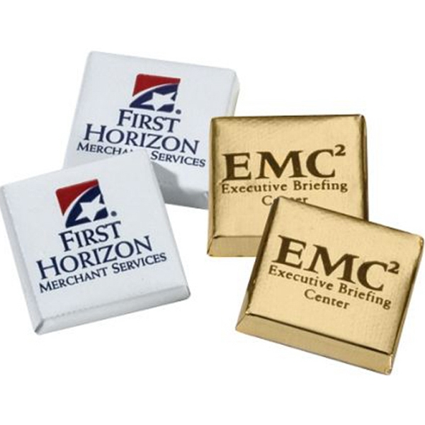 Rockwell - 5-15 Working Days; Standard - Foil Wrapped Custom Milk Chocolate Squares. Kosher Product Photo