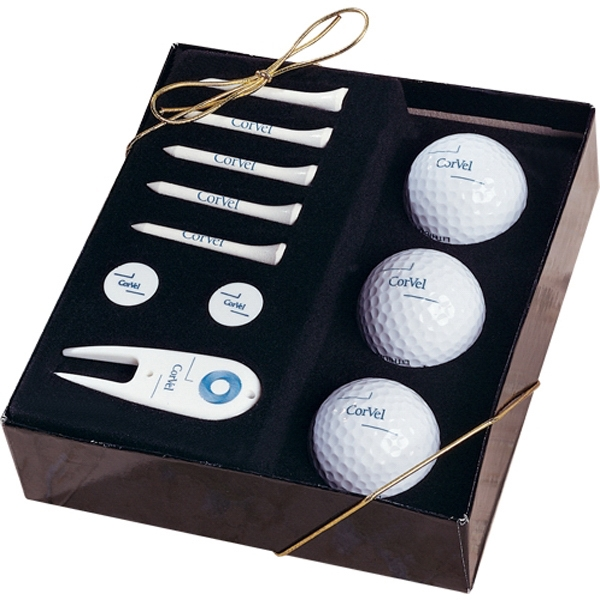 Scottsdale - 5-15 Working Days; Standard - Three Golf Balls, Five Tees, Two Ball Markers And Divot Tool In Gift Box Photo