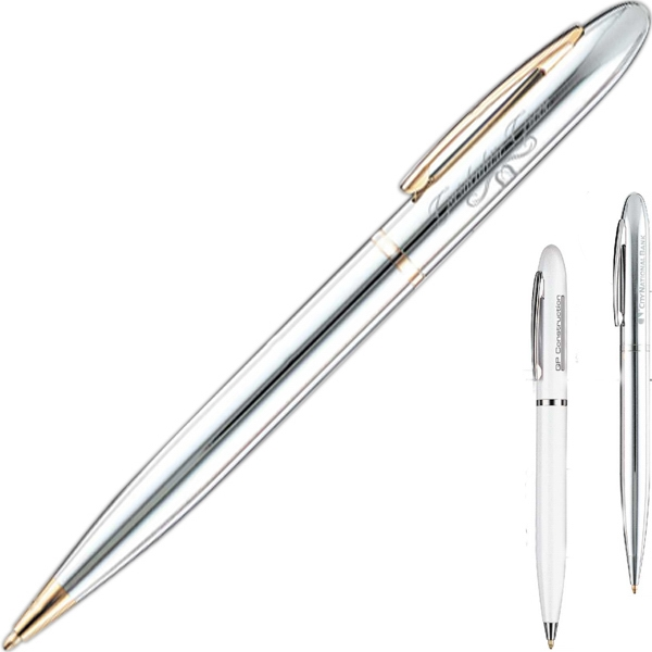 Ballpoint Pen With Solid Brass Construction And Twist Action Mechanism Photo
