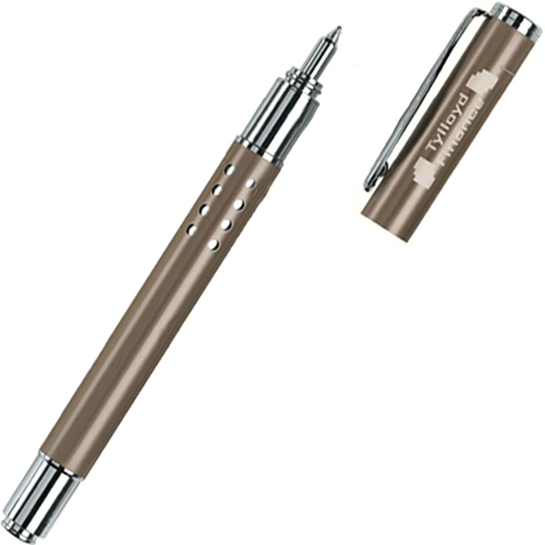 Rollerball Pen With Decorative Cut Out Design And Metallic Finish Photo