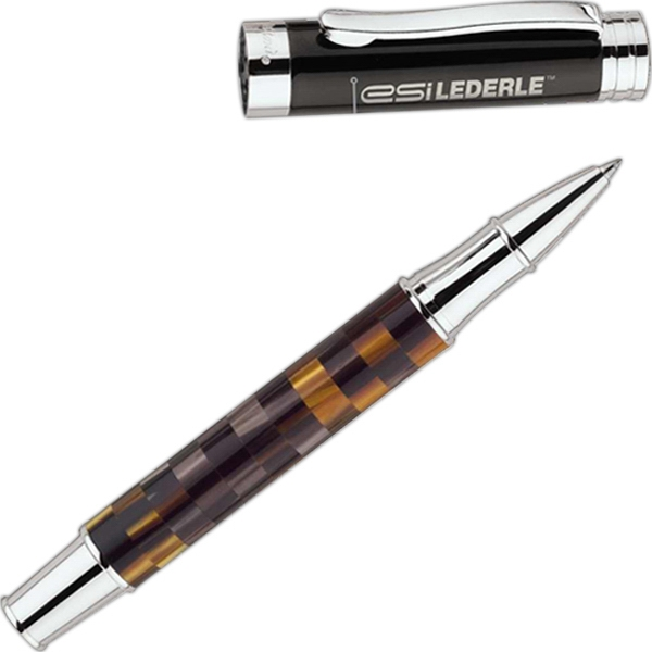 Bettoni (r) - Rollerball Pen With Brass Cap And Barrel With Resin Motif Photo