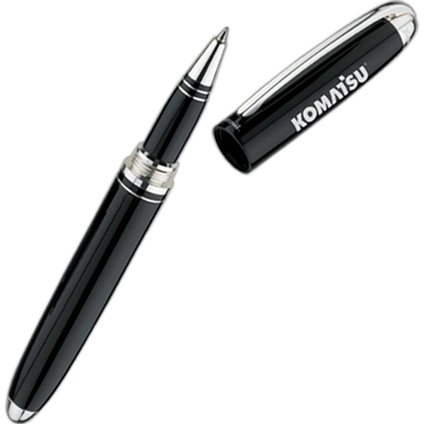 Bettoni (r) - Rollerball Pen With Cap Off Design And High Gloss Black Lacquer Finish Photo