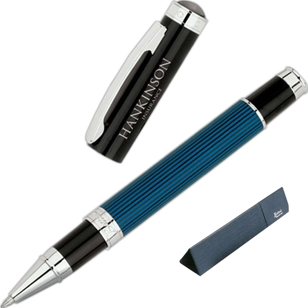 Bettoni (r) - Rollerball Pen With Stripes Embodied In High Gloss Finish Photo