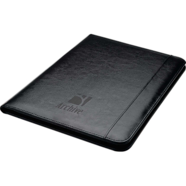 40 page bonded leather folder