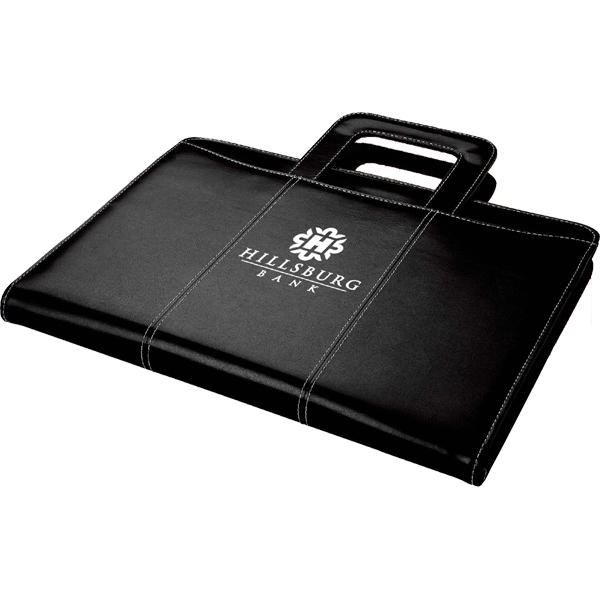 Zippered leatherette 3-ring binder